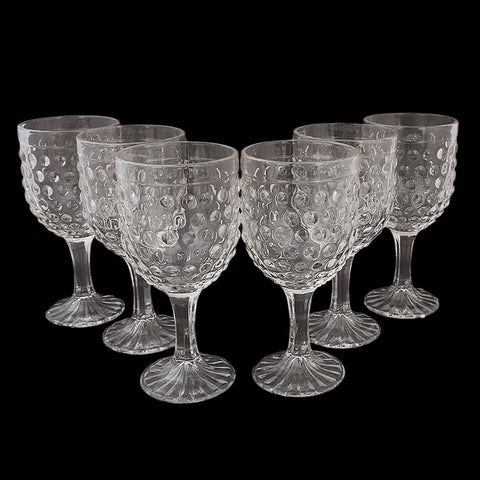Goblet Glass 6 Pcs - White