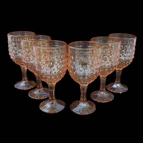 Goblet Glass 6 Pcs - Golden