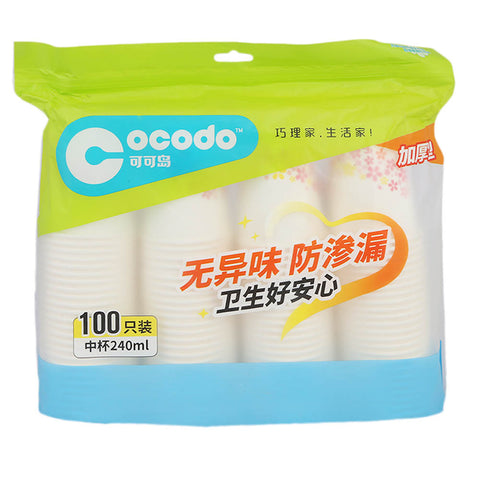 Disposable Plastic Glass 100 pcs (776-778) CCD-1124 240ml