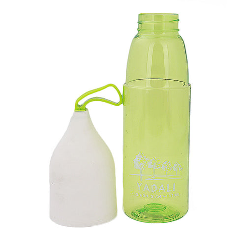 Water Bottle With Glass - Green