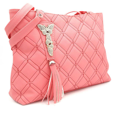 Women's Shoulder Bag ZH-48 - Pink