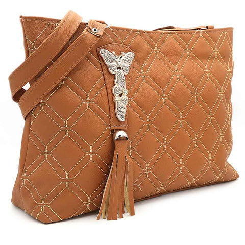 Women's Shoulder Bag ZH-48 - Brown