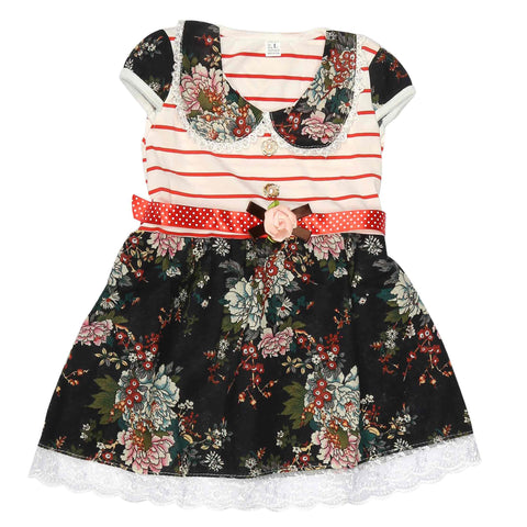 Girls Frock - Red