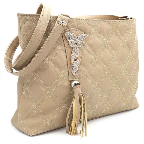 Women's Shoulder Bag ZH-48 - Beige