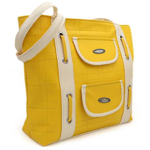 Women's Handbag (8653) - Yellow