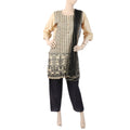 Women's Embroidered 03 Pcs Suit - Beige