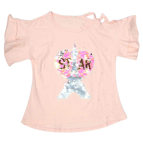 Girls Fancy T-Shirt - Pink