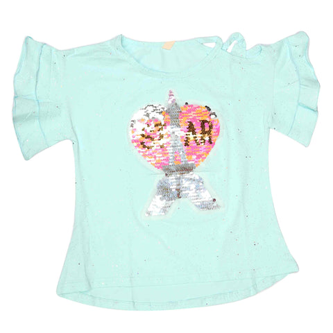 Girls Fancy T-Shirt - Light Blue
