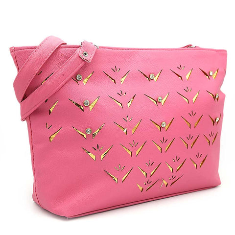 Women's Shoulder Bag ZH-49 - Pink