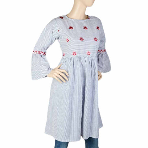 Women's Embroidered Kurti - Grey