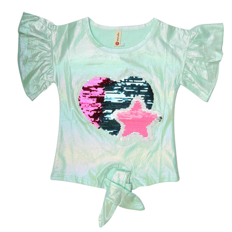 Girls T-Shirt - Sea Green