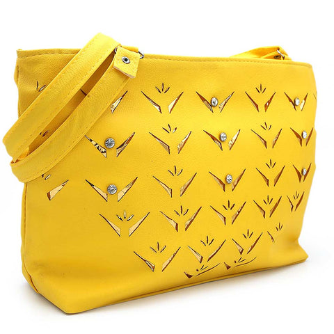 Women's Shoulder Bag ZH-49 - Yellow