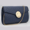 Women's Shoulder Bag 6971 - Navy Blue