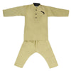 Boys Embroidered Kurta Pajama - Olive Green