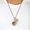 Men's Chain Locket - Green
