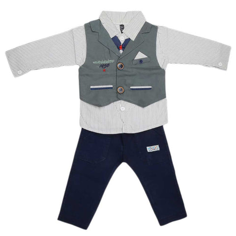 Newborn Full Sleeves 2 Piece Suit - Green