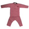 Boys Embroidered Kurta Pajama - Maroon