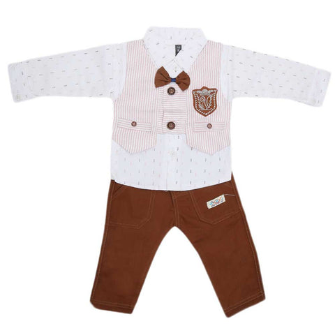 Newborn Full Sleeves 2 Piece Suit - Pink