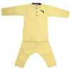 Boys Embroidered Kurta Pajama - Yellow
