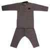 Boys Embroidered Kurta Pajama - Grey