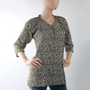 Women's Printed Top - Olive Green