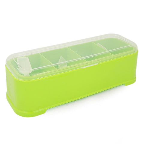 Spice Box  With Spoon - Green