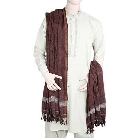 Men's Velvet Shawl - Dark Brown