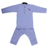 Boys Embroidered Kurta Pajama - Blue
