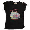 Girls Half Sleeves T-Shirt 03 - Black