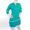 Women's Khaddar Kurti With Front Button - Steel Blue