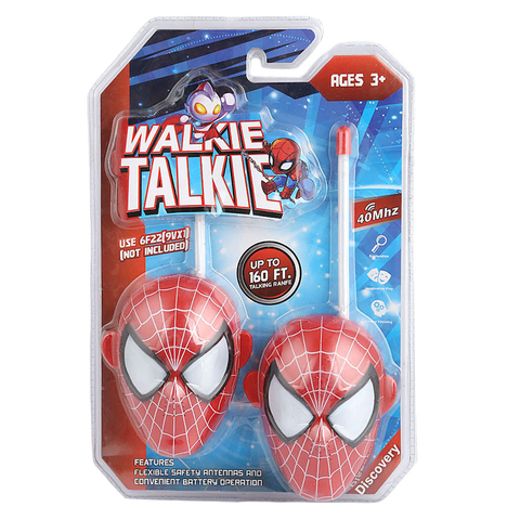 Spider Man Walkie Talkie Toy - Red - test-store-for-chase-value