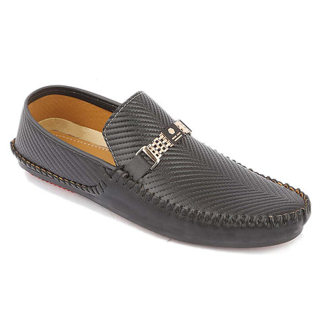 Men's Loafer Shoes (608) - Black