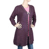 Eminent Full Sleeves Long Sweater For Women - Dark Purple