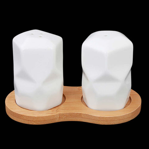 Salt And Pepper Bamboo Based - White