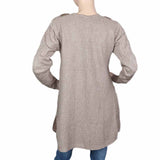 Eminent Full Sleeves Long Sweater For Women - Grey