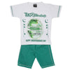 14th August Half Sleeves Suit For Boys - White