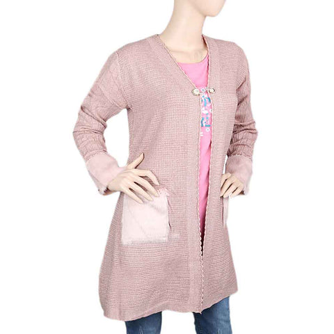 Eminent Full Sleeves Long Sweater For Women - T-Pink