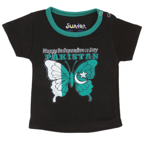 Newborn T-Shirt For 14th August - Black