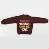 Boys Full Sleeves Fleece Sweat Shirt 8897 - Brown