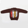 Boys Full Sleeves Fleece Sweat Shirt 8896 - Brown