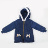 Girls Hooded Jacket - Navy Blue