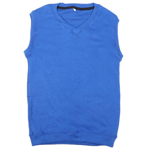 Boys Sleeveless Sweater - Blue