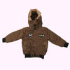 Boys Hooded Jacket - Coffee