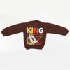 Boys Full Sleeves Fleece Sweat Shirt 8899 - Brown