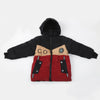 Boys Hooded Jacket - Maroon
