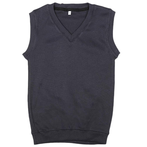 Boys Sleeveless Sweater - Navy Blue