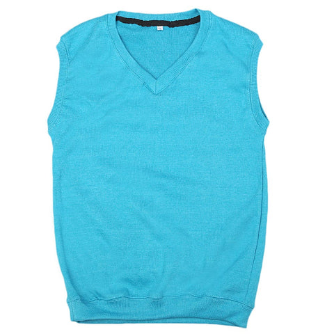 Boys Sleeveless Sweater - Sky Blue
