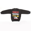 Boys Full Sleeves Fleece Sweat Shirt 8897 - Black