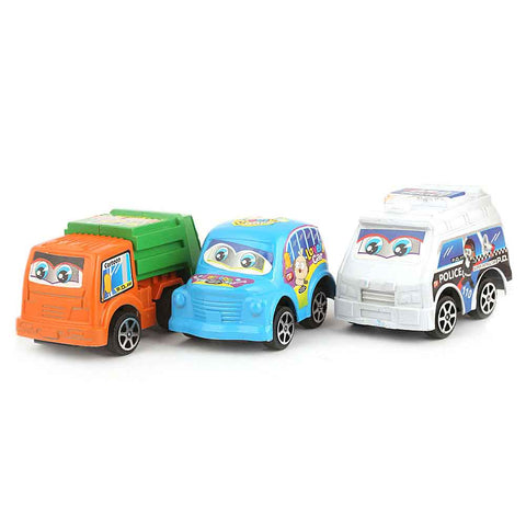 Pull Back Cars 3 Pcs - Multi - test-store-for-chase-value