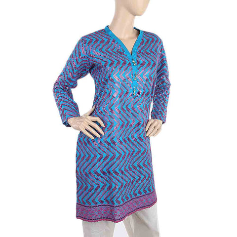Women's Fancy Chicken Kurti - Blue